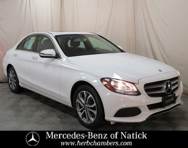 used 2018 Mercedes-Benz C-Class car, priced at $28,998